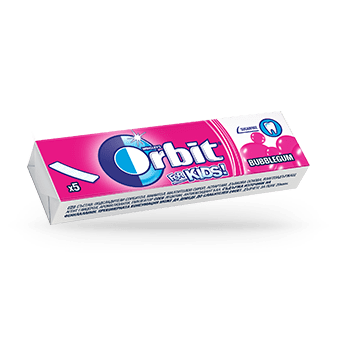 Orbit for kids bubblegum